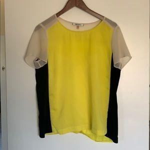DKNYC black white yellow top